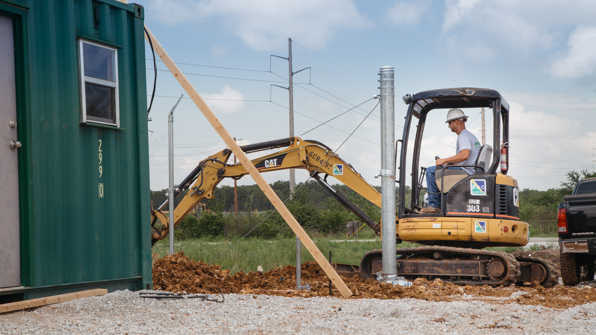 Image of initial construction at the Empire Substation in Joplin, MO.