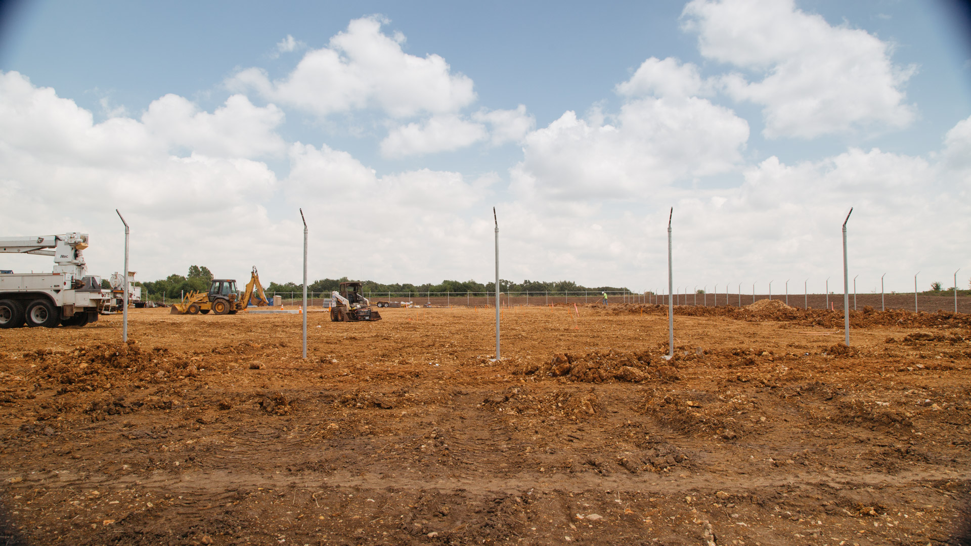 Image of beginning stages of construction on Empire Substation in Joplin, MO.