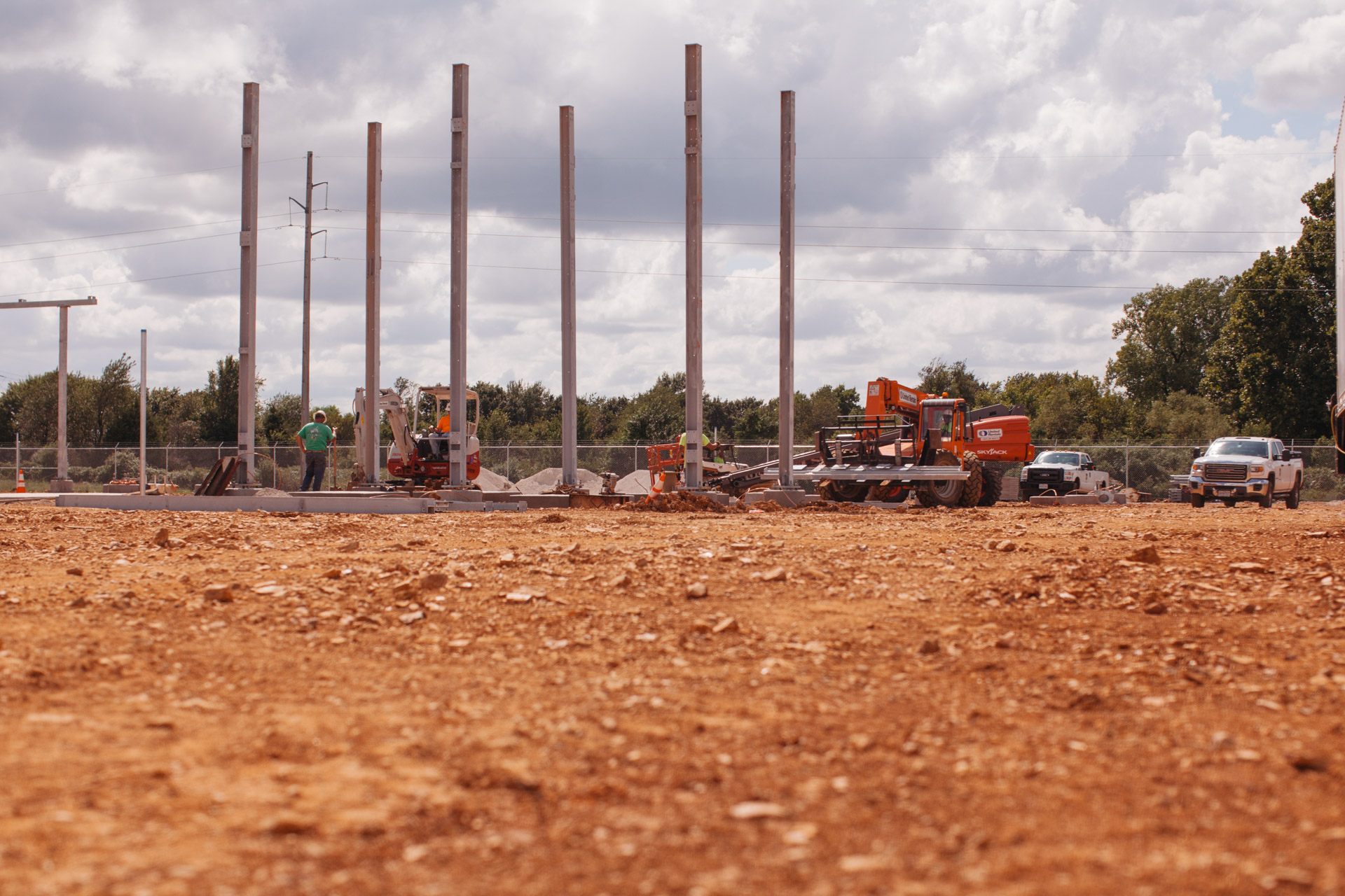 Image of Empire Substation construction site in Joplin, MO.