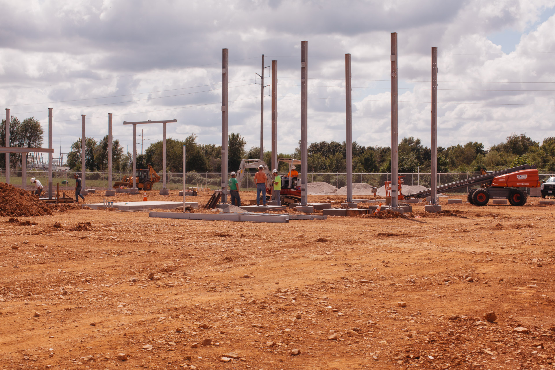 Image of beginning physical construction of BBC Electric Empire Substation in Joplin, MO.