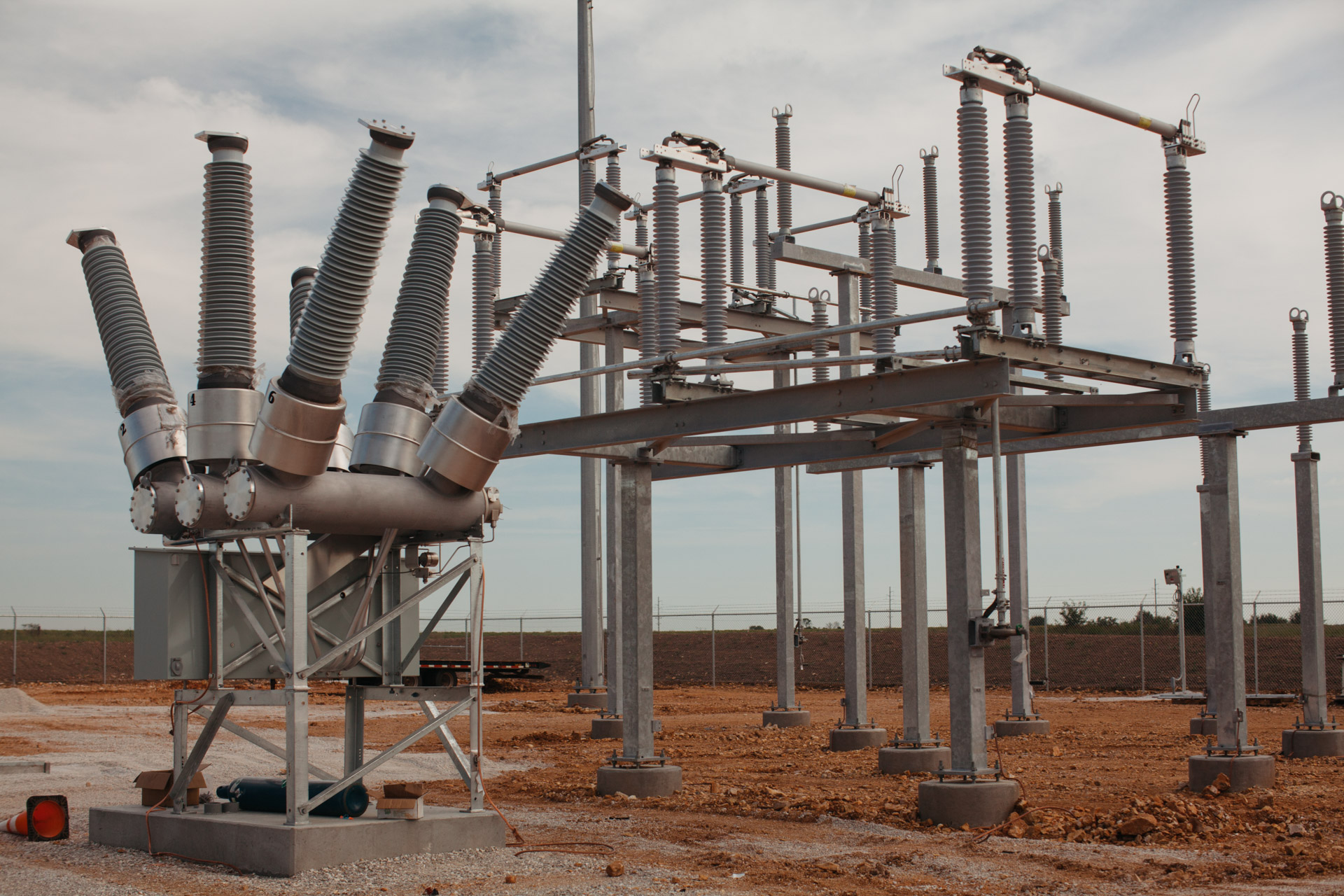 Image of Empire Substation in Joplin, MO during construction.